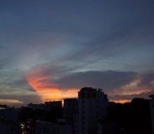 今日のサイゴンの夕日