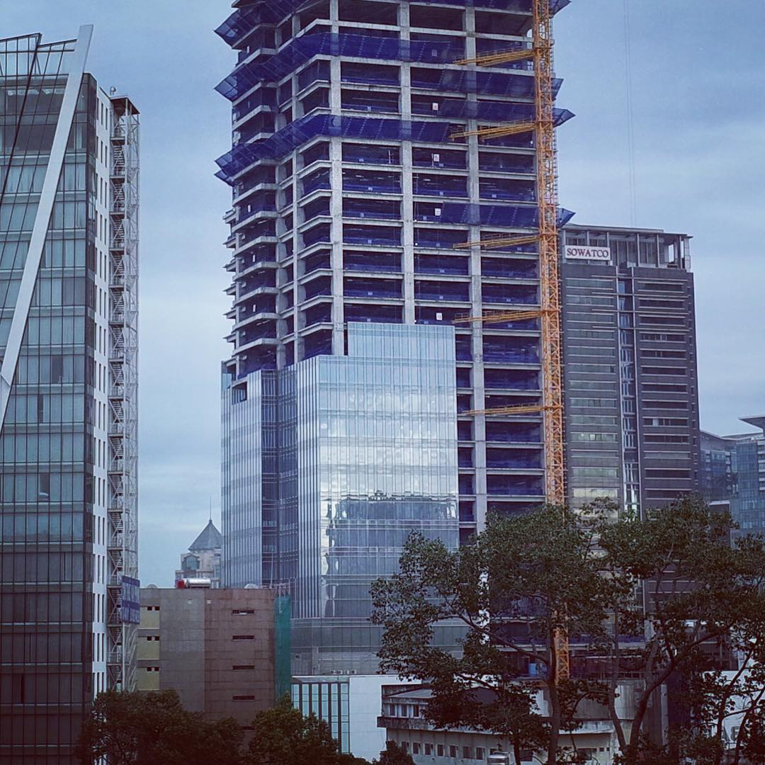 #Saigon Center start adding curtain walls. The final stage of the construction. #vietnam #gr #ricoh